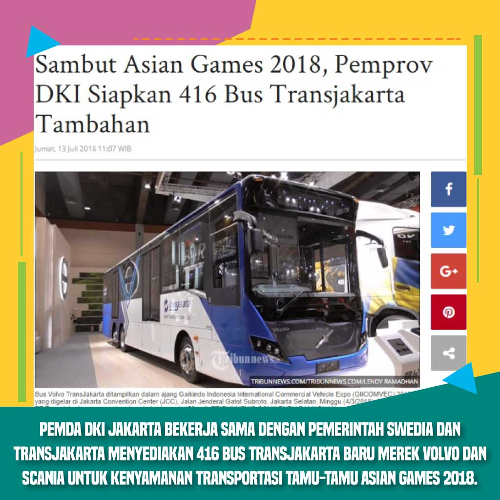 Fasilitas Bus Asian Games 2018