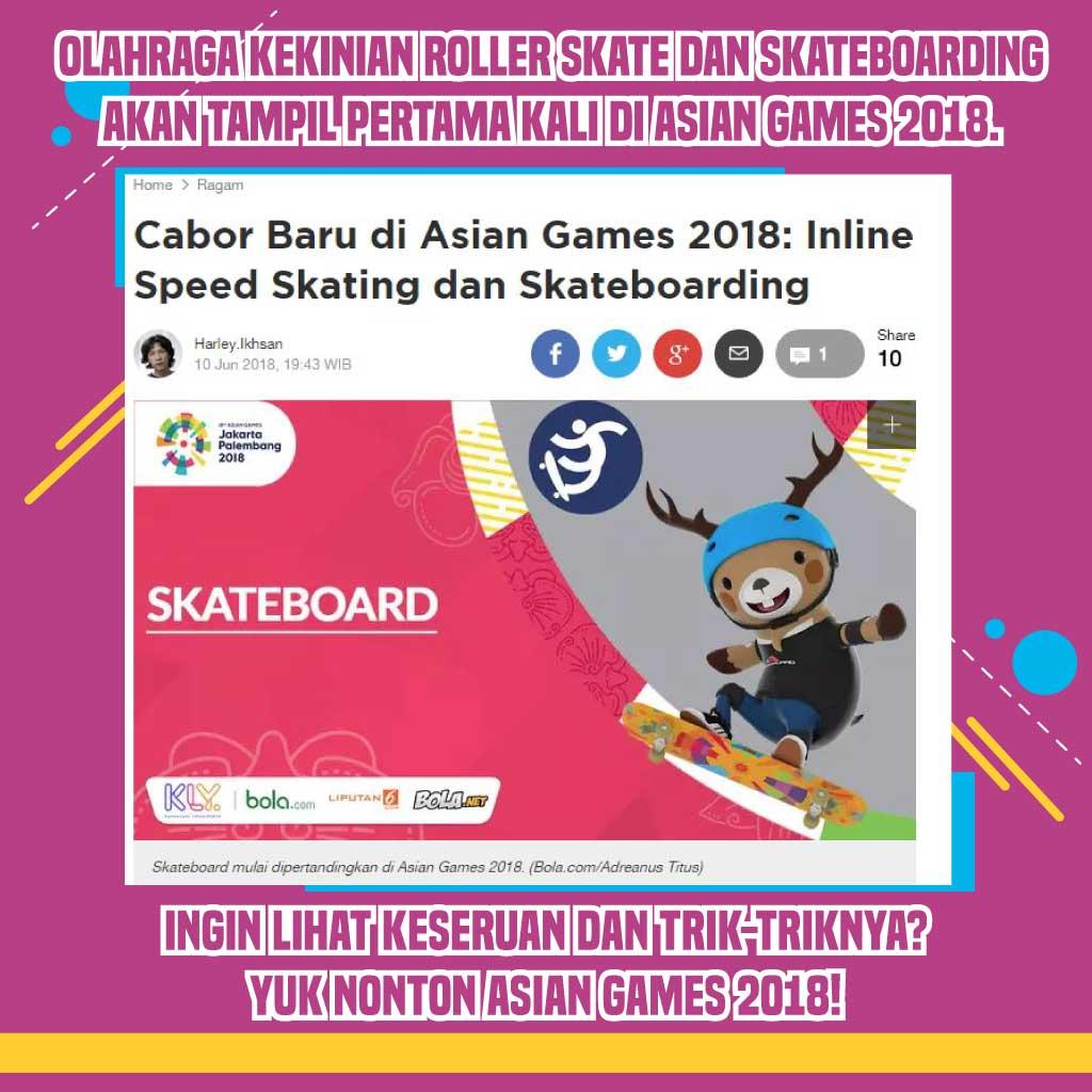Salah satu Cabang Olahraga di Asian Games